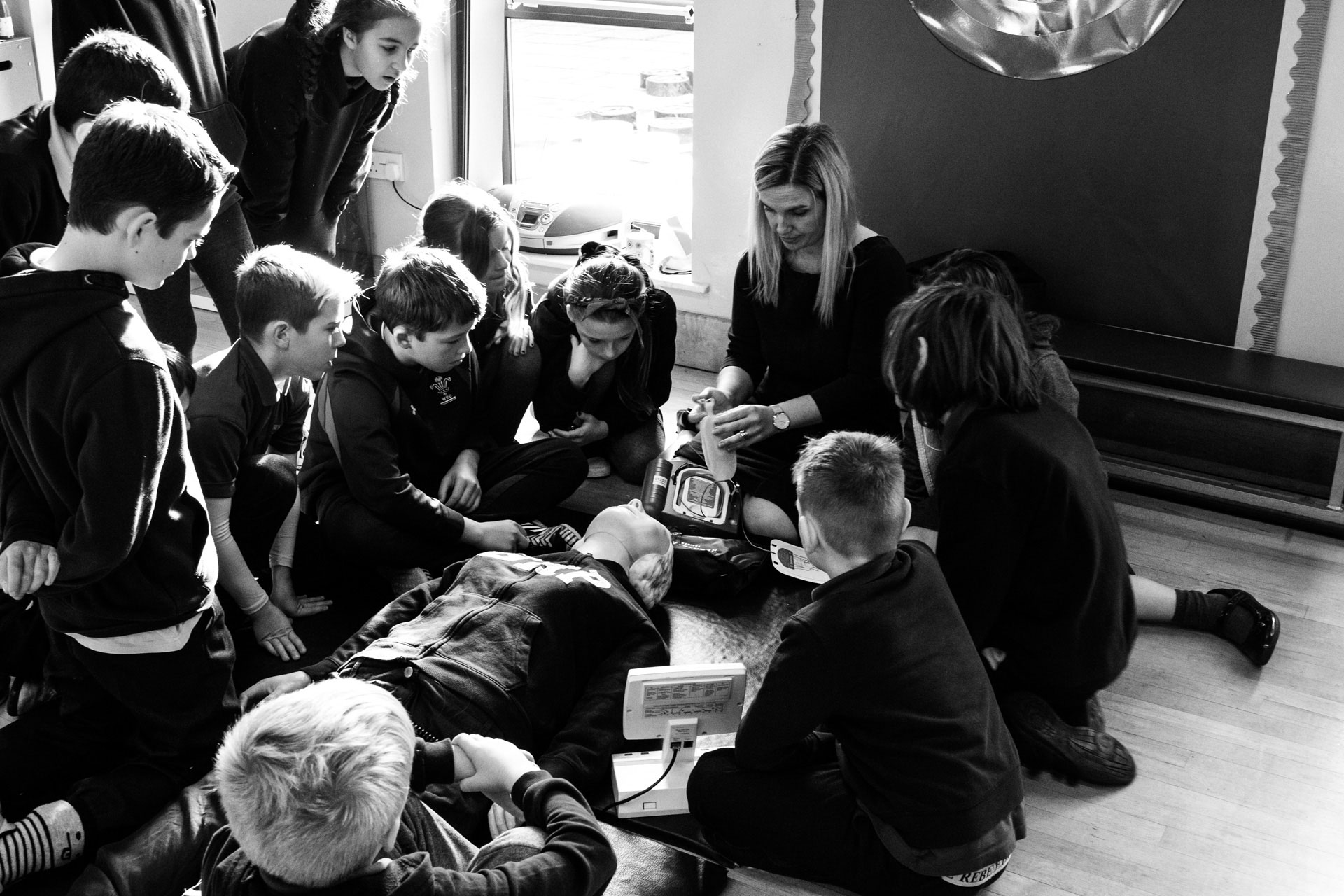 Lubas Medical Teaching at local school